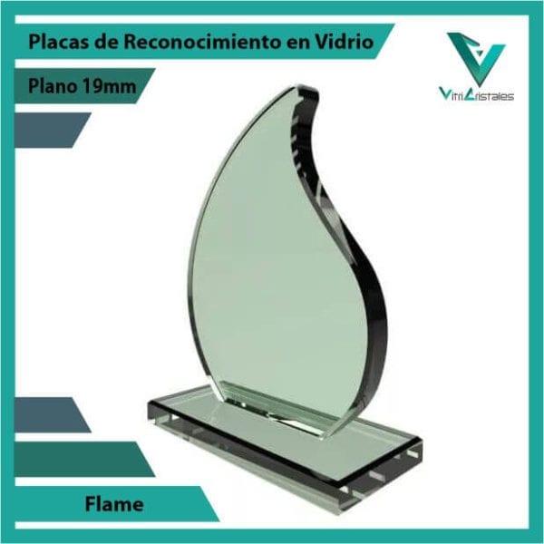 Placas de Reconocimiento en Vidrio Flame personalizada