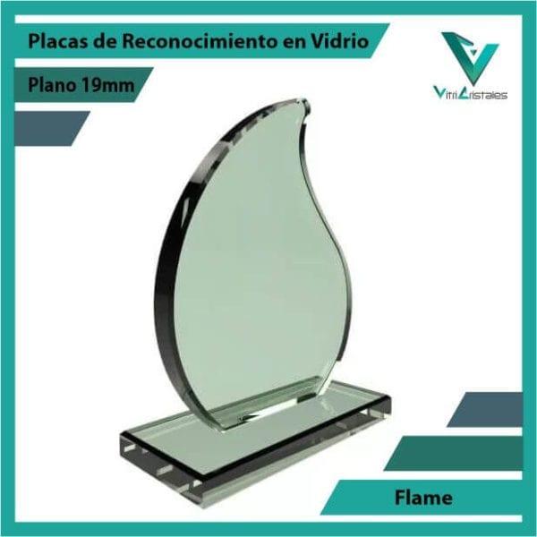 Placas de Reconocimiento en Vidrio Flame personalizada con grabado laser