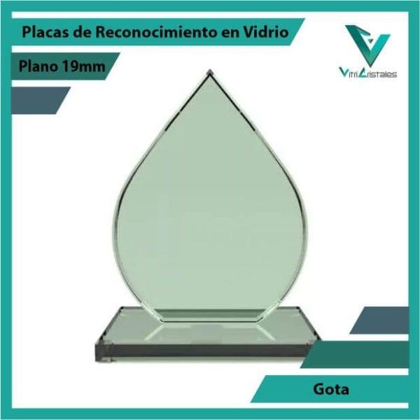 Placas de Reconocimiento en Vidrio Gota en grabado laser