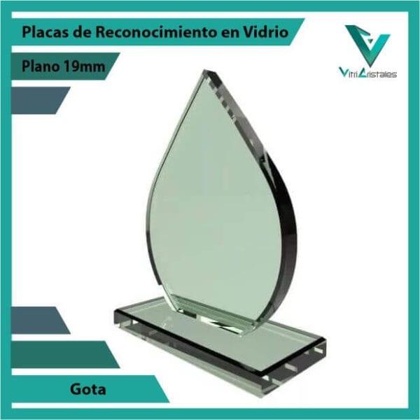 Placas de Reconocimiento en Vidrio Gota personalizada