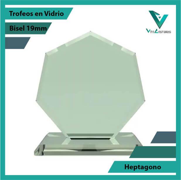 Trofeos en Vidrio Heptágono en grabado laser