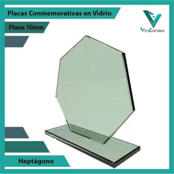 Placas Conmemorativas en Vidrio Heptagono personalizada