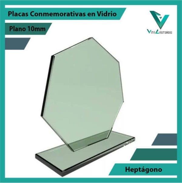 Placas Conmemorativas en Vidrio Heptagono personalizada con grabado laser