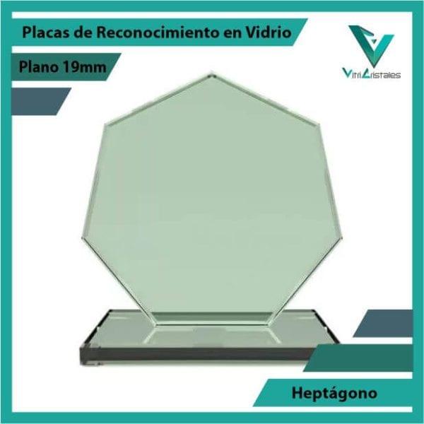 Placas de Reconocimiento en Vidrio Heptágono en grabado laser