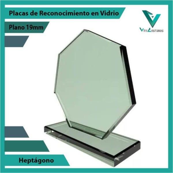 Placas de Reconocimiento en Vidrio Heptágono personalizada