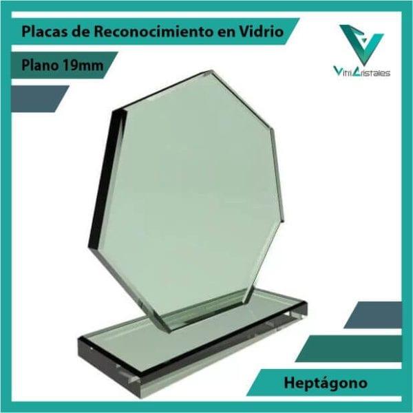 Placas de Reconocimiento en Vidrio Heptágono personalizada con grabado laser