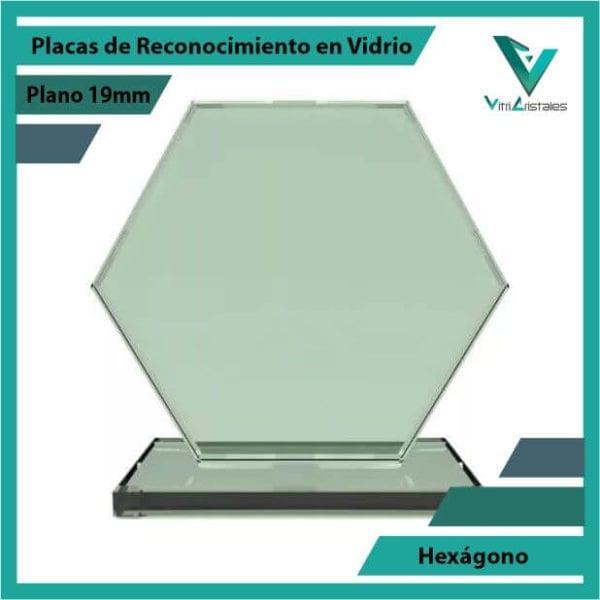 Placas de Reconocimiento en Vidrio Hexágono en grabado laser