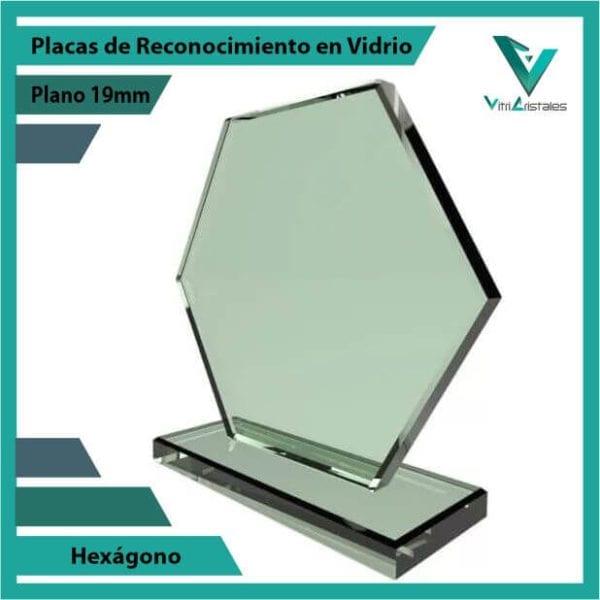 Placas de Reconocimiento en Vidrio Hexágono personalizadas con grabado laser