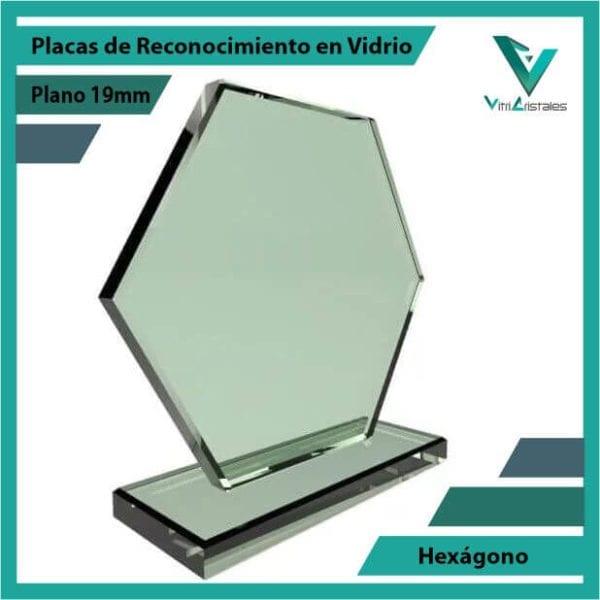 Placas de Reconocimiento en Vidrio Hexágono personalizadas