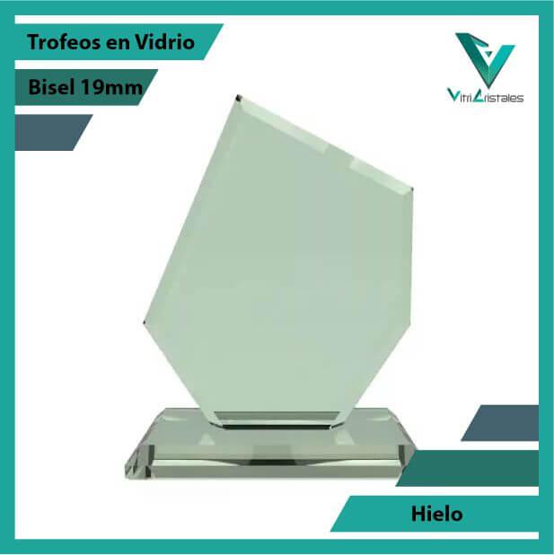 Trofeos en Vidrio Hielo en grabado laser