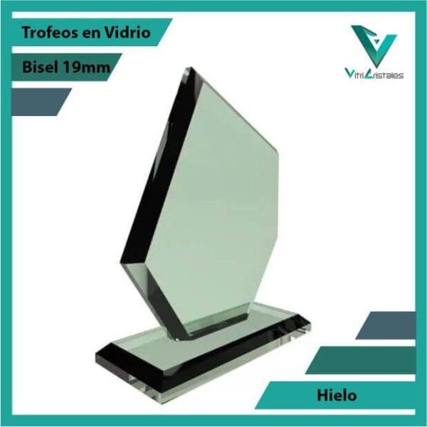 Trofeos en Vidrio Hielo personalizadas con grabado laser