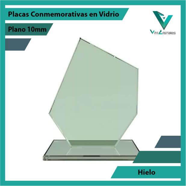 Placas Conmemorativas en Vidrio Hielo en grabado laser