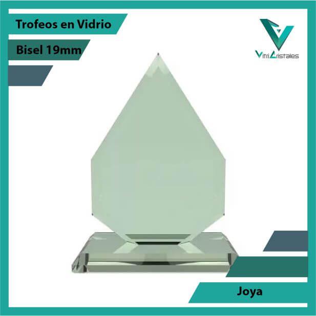 Trofeos en Vidrio Joya en grabado laser