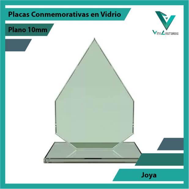 Placas Conmemorativas en Vidrio Joya en grabado laser