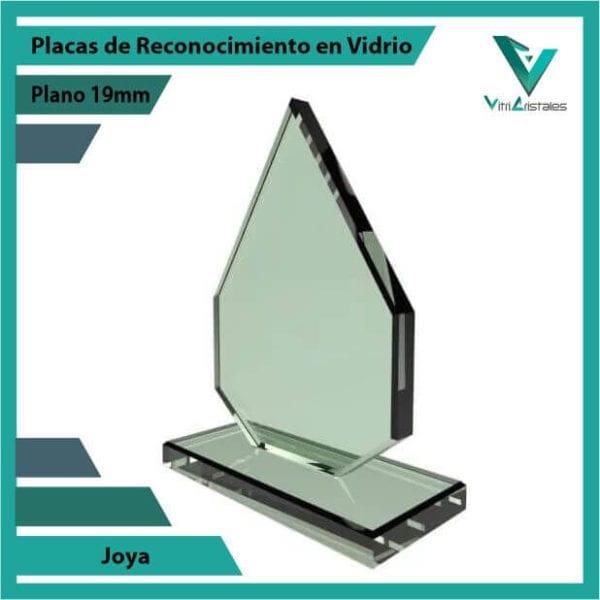 Placas de Reconocimiento en Vidrio Joya personalizada