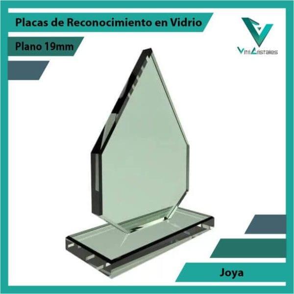 Placas de Reconocimiento en Vidrio Joya personalizada con grabado laser