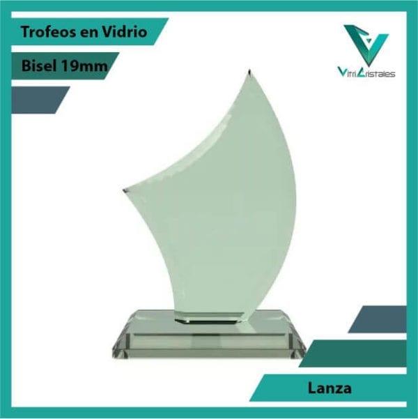 Trofeos en Vidrio Lanza en grabado laser