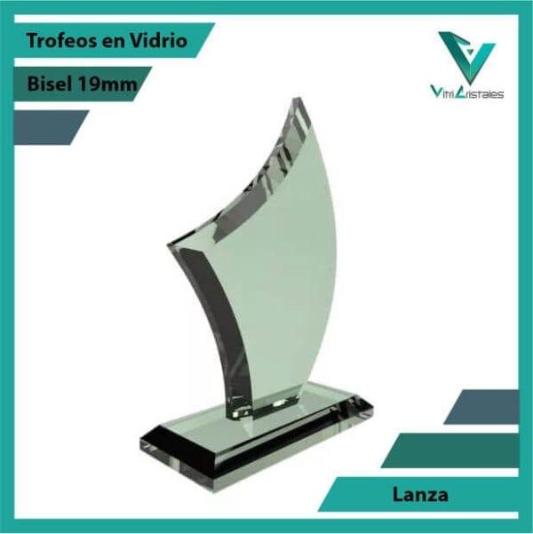 Trofeos en Vidrio Lanza personalizadas con grabado laser