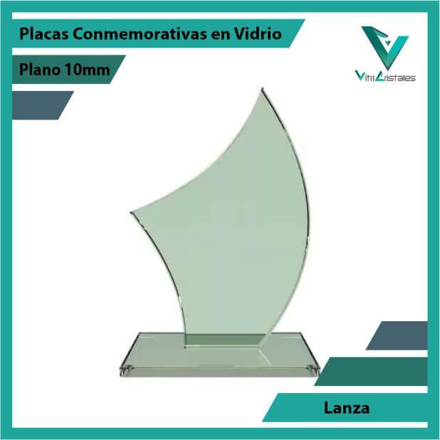 Placas Conmemorativas en Vidrio Lanza en grabado laser