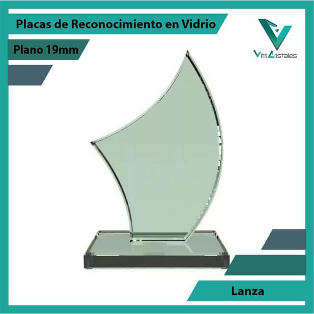 Placas de Reconocimiento en Vidrio Lanza en grabado laser