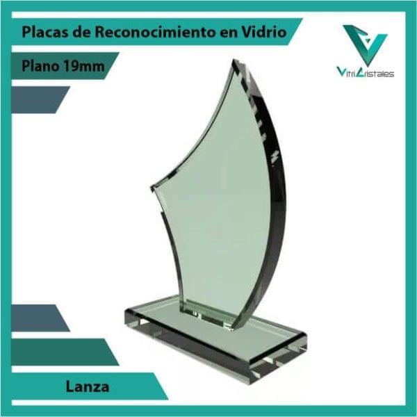 Placas de Reconocimiento en Vidrio Lanza personalizada