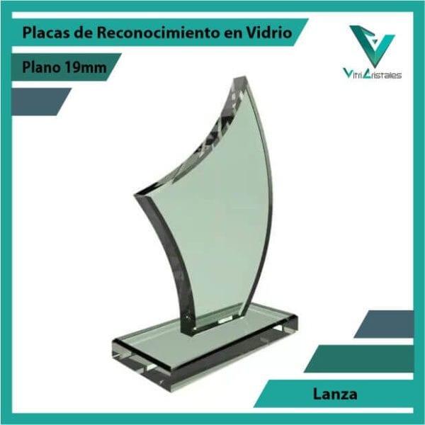 Placas de Reconocimiento en Vidrio Lanza personalizada con grabado laser