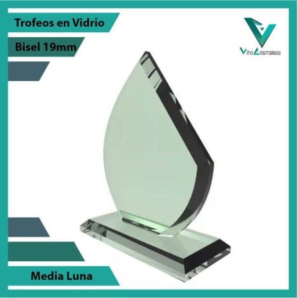 Trofeos en Vidrio Media Luna personalizadas
