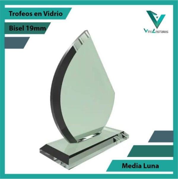 Trofeos en Vidrio Media Luna personalizadas con grabado laser