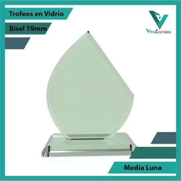 Trofeos en Vidrio Media Luna en grabado laser