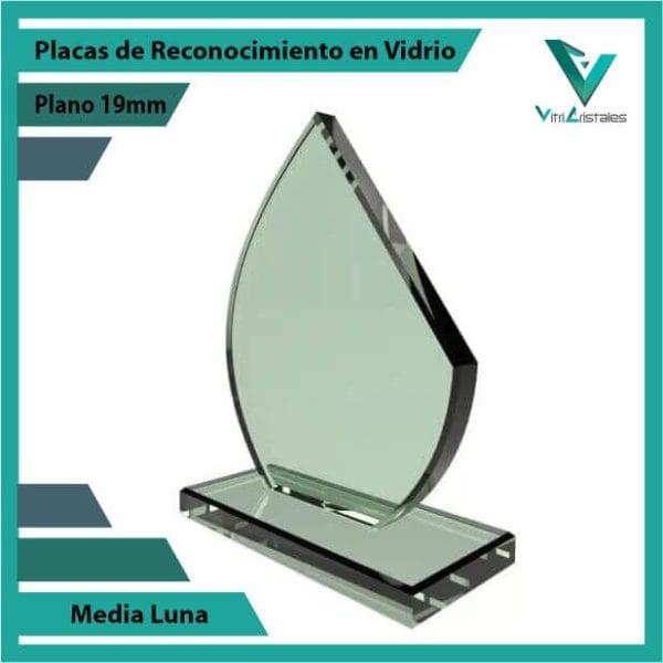 Placas de Reconocimiento en Vidrio Media Luna personalizada