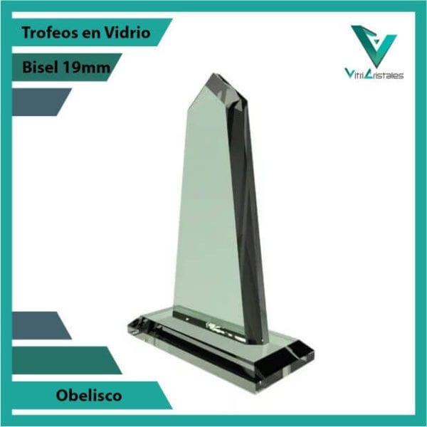 Trofeos en Vidrio Obelisco personalizadas