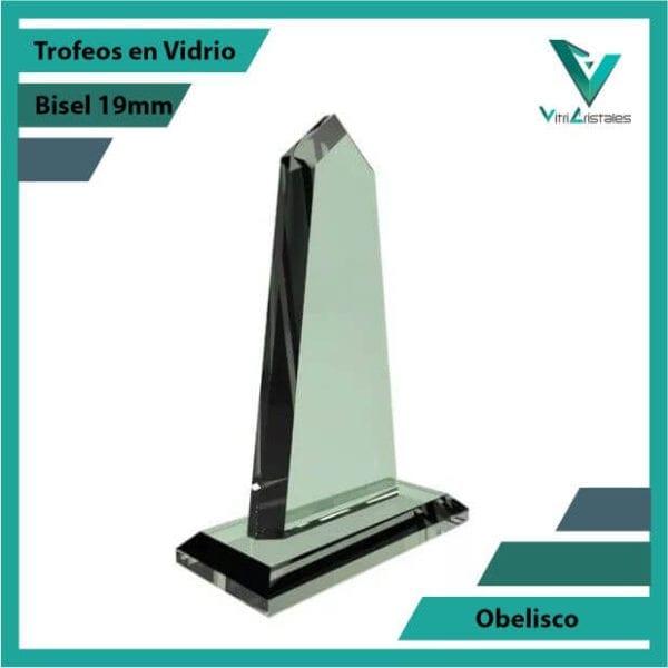 Trofeos en Vidrio Obelisco personalizadas con grabado laser