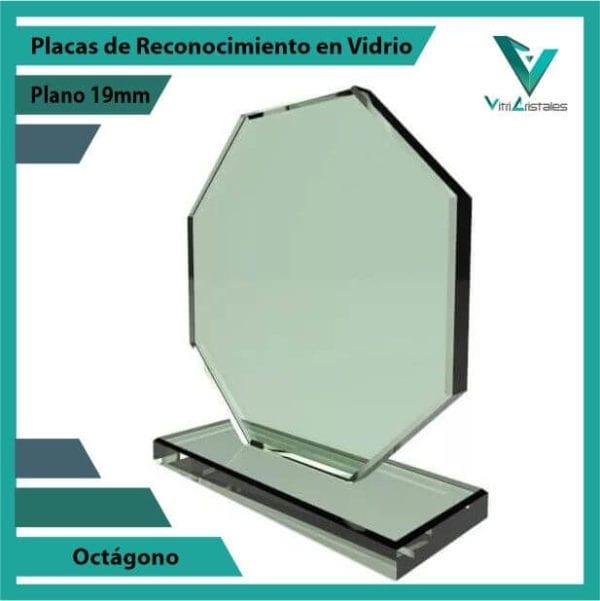 Placas de Reconocimiento en Vidrio Octágono personalizada