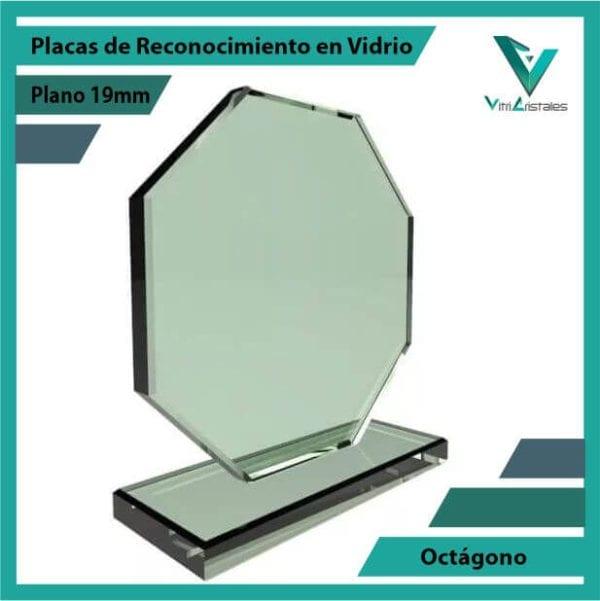 Placas de Reconocimiento en Vidrio Octágono personalizada con grabado laser