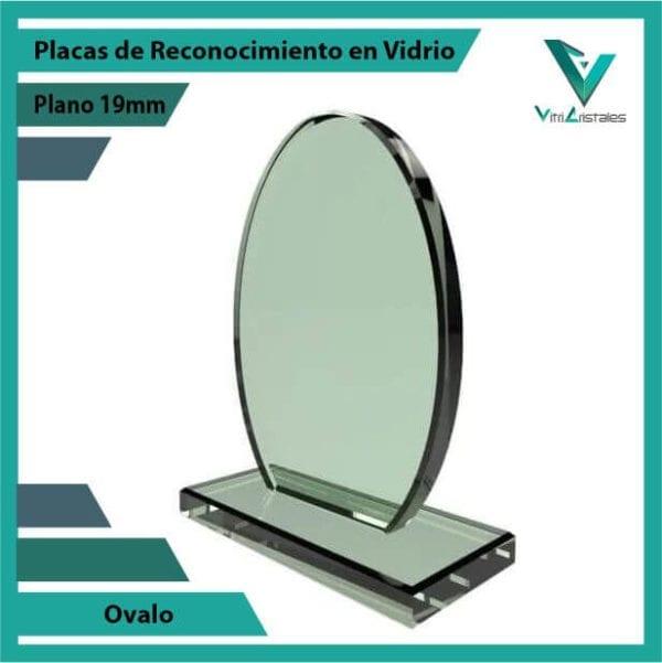Placas de Reconocimiento en Vidrio Ovalo personalizada