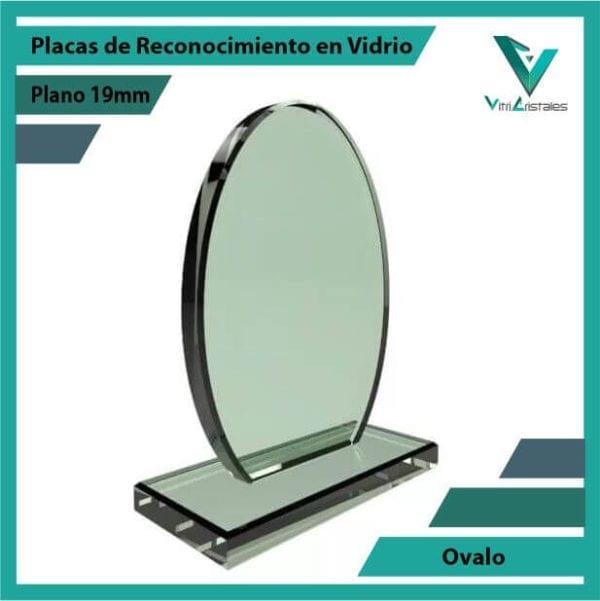 Placas de Reconocimiento en Vidrio Ovalo personalizada con grabado laser
