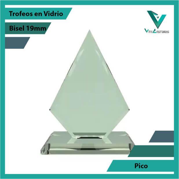 Trofeos en Vidrio Pico en grabado laser