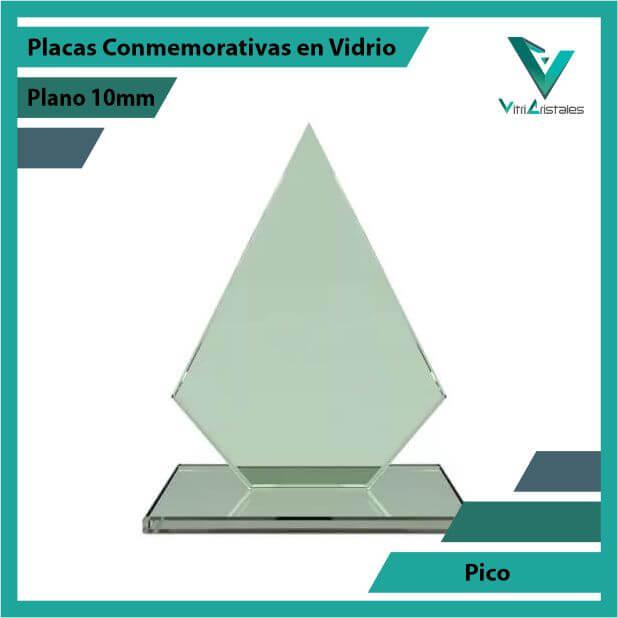 Placas Conmemorativas en Vidrio Pico en grabado laser