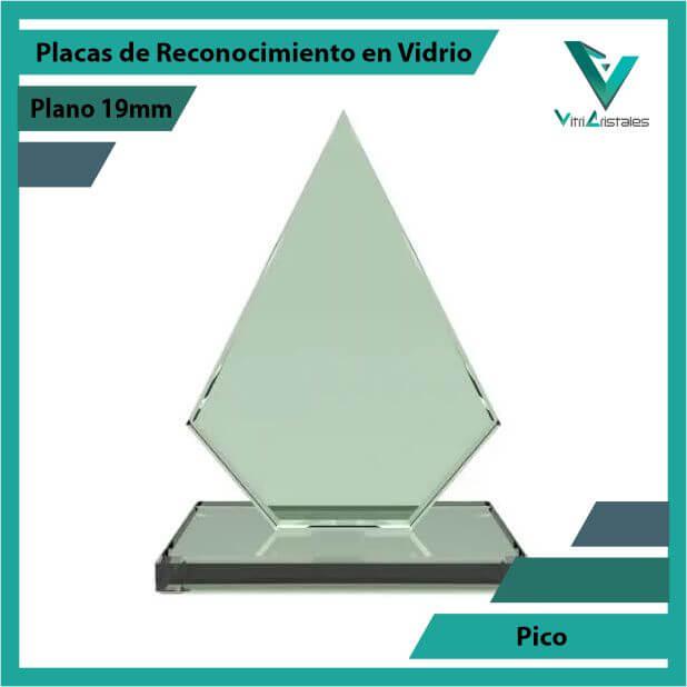 Placas de Reconocimiento en Vidrio Pico en grabado laser