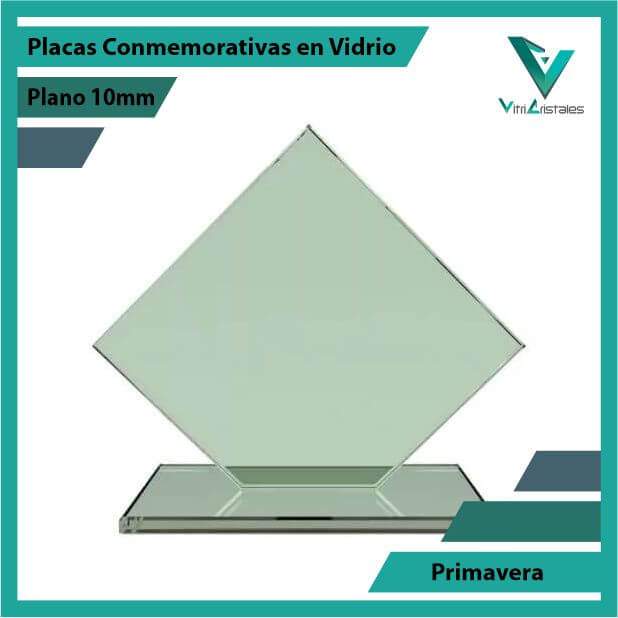 Placas Conmemorativas en Vidrio Primavera en grabado laser