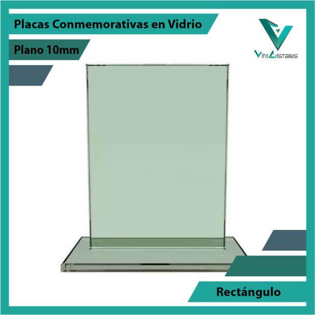 Placas Conmemorativas en Vidrio Rectángulo en grabado laser