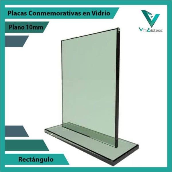 Placas Conmemorativas en Vidrio Rectángulo personalizada