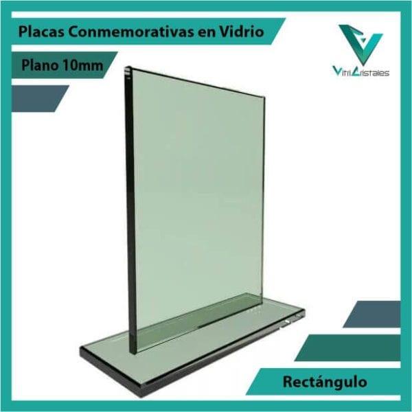 Placas Conmemorativas en Vidrio Rectángulo personalizada con grabado laser