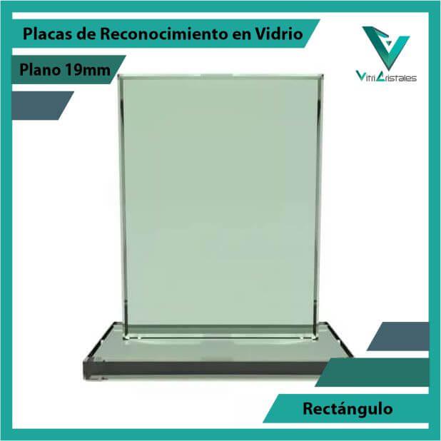 Placas de Reconocimiento en Vidrio Rectángulo en grabado laser