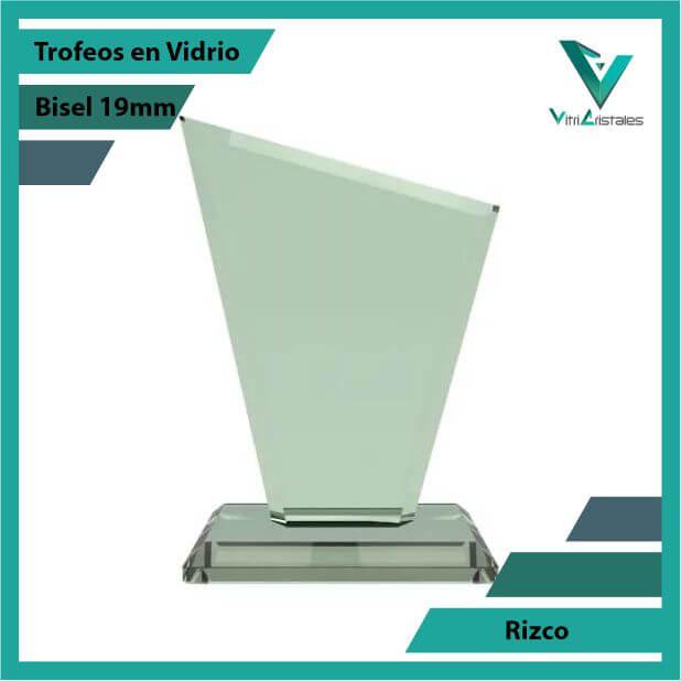 Trofeos en Vidrio Rizco en grabado laser