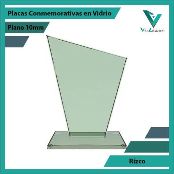 Placas Conmemorativas en Vidrio Rizco en grabado laser