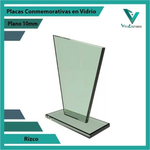 Placas Conmemorativas en Vidrio Rizco personalizada