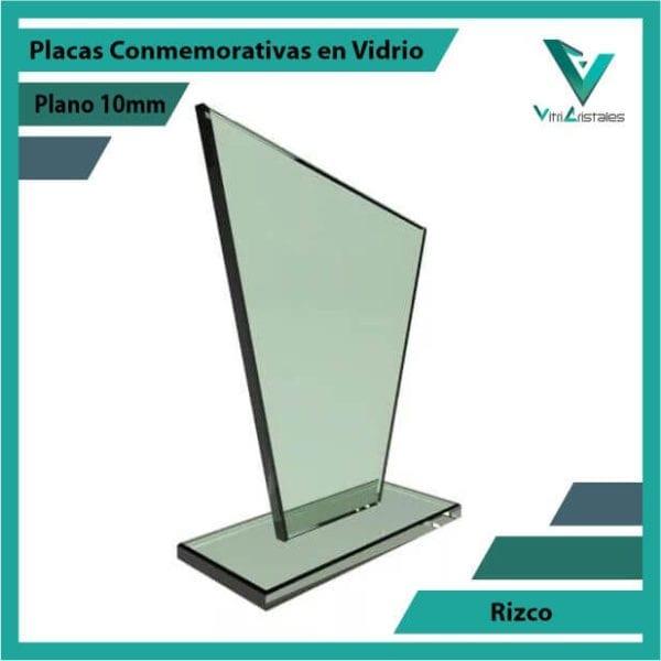 Placas Conmemorativas en Vidrio Rizco personalizada con grabado laser