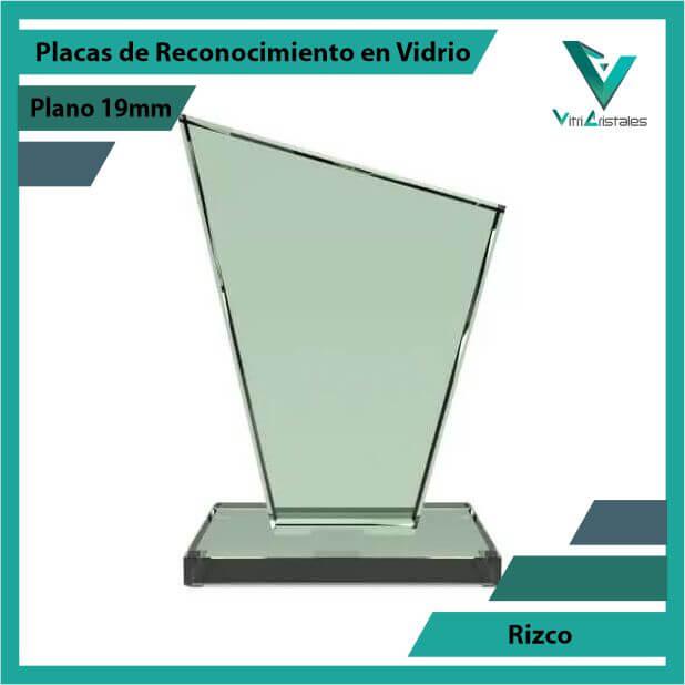 Placas de Reconocimiento en Vidrio Rizco en grabado laser