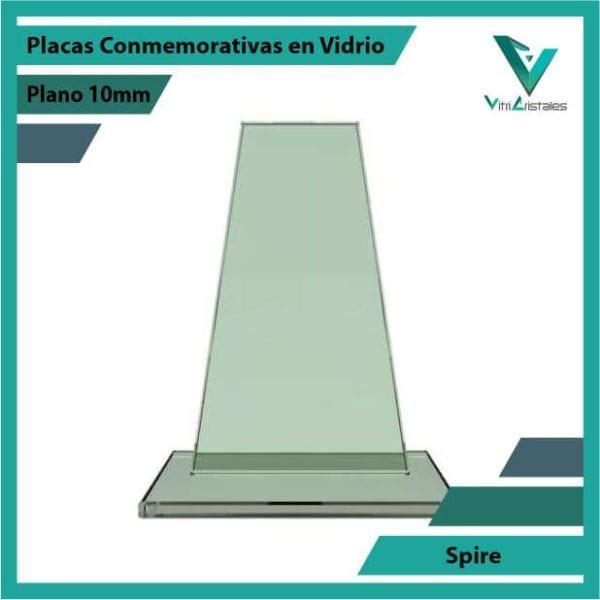 Placas Conmemorativas en Vidrio Spire en grabado laser